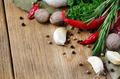 Garlic, nutmeg, rosemary and chili pepper - PhotoDune Item for Sale