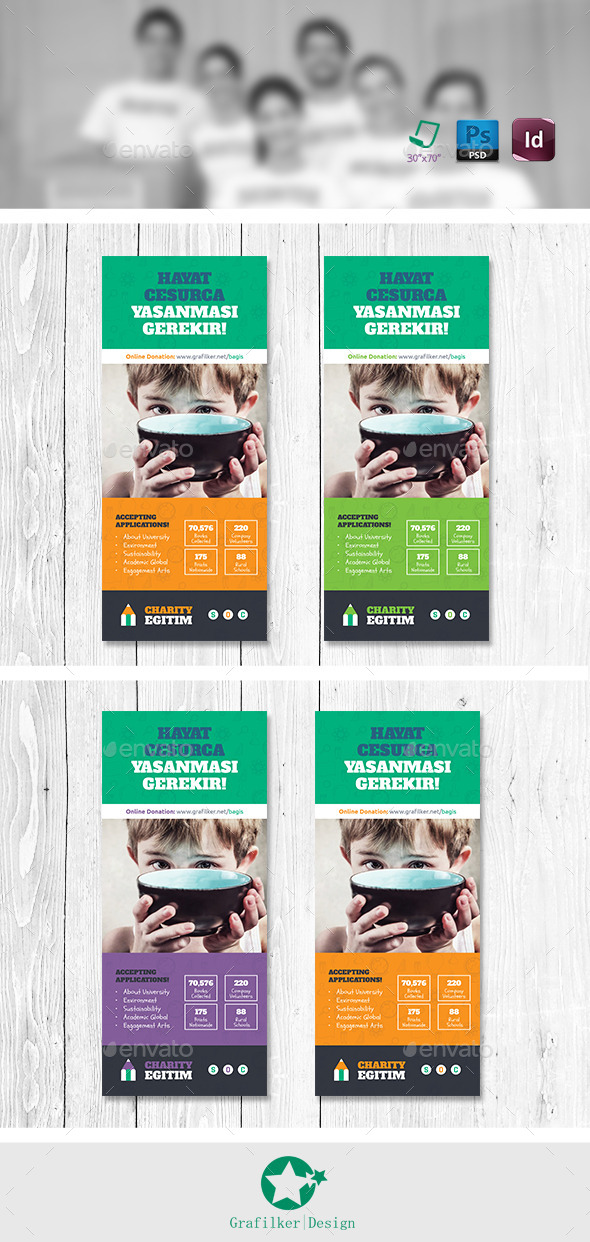 GraphicRiver Charity Roll-Up Templates 11173320