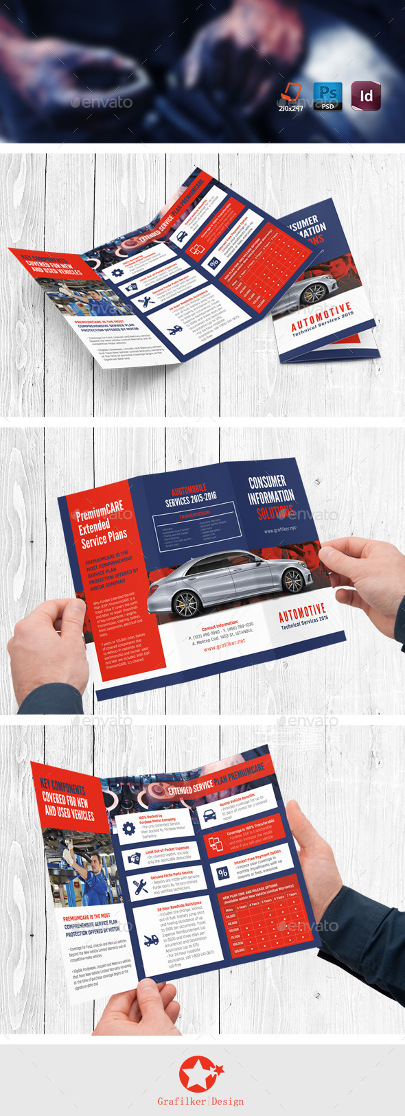 GraphicRiver Automobile Service Tri-Fold Templates 11173322