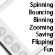 Spinning Bouncing Binning Flipping Image Display - ActiveDen Item for Sale