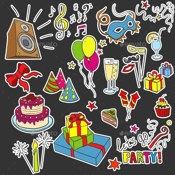 GraphicRiver Party Objects 11173521