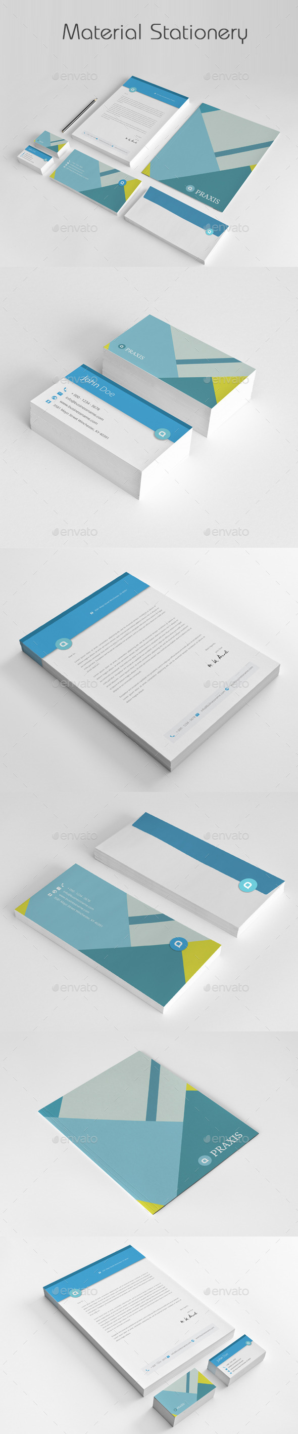 GraphicRiver Material Stationery 11173674