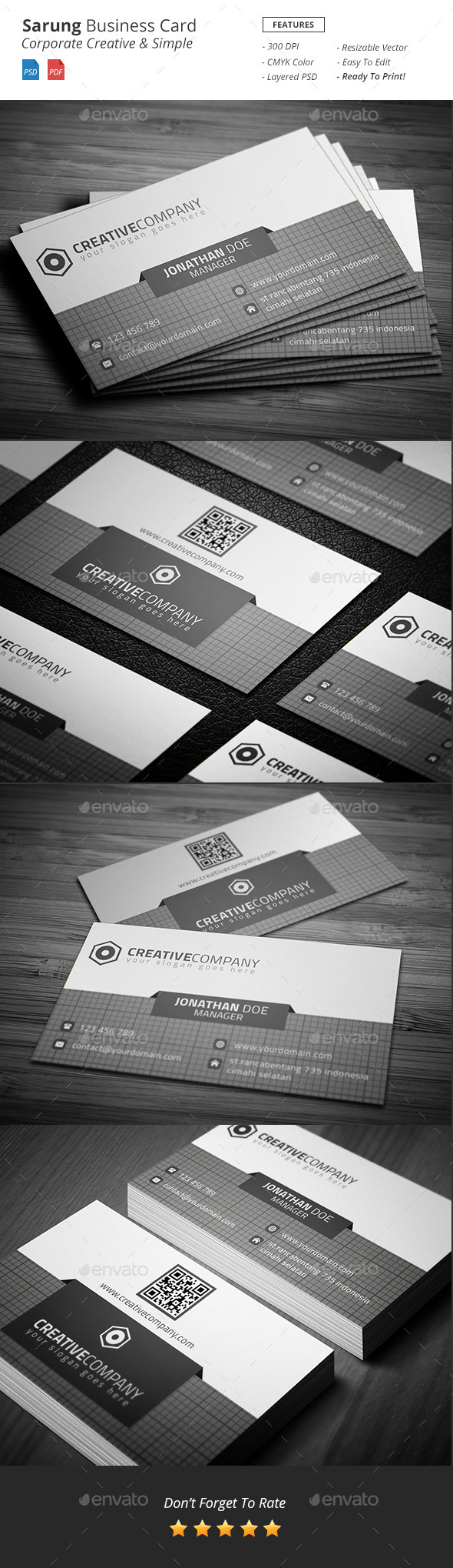 GraphicRiver Sarung Corporate Business Card 11174214