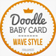 Doodle Baby Announcement (wave) - GraphicRiver Item for Sale