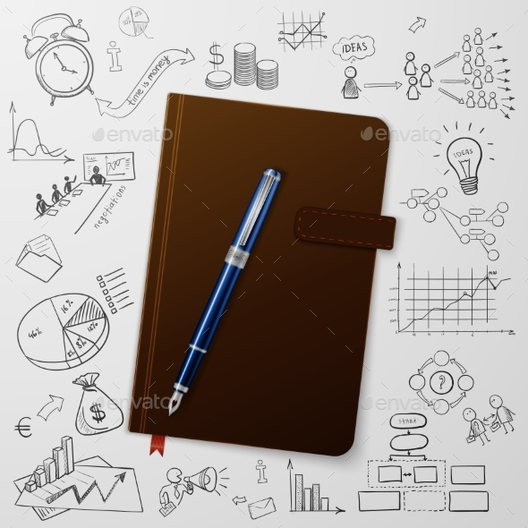 GraphicRiver Notebook with Doodles 11174243