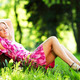 Woman sitting under tree - PhotoDune Item for Sale