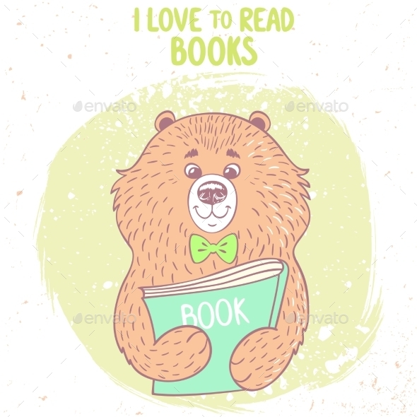 GraphicRiver Bear and Book 11174312