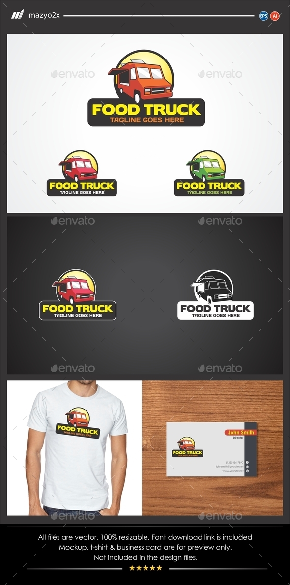 GraphicRiver Food Truck Logo 11174349