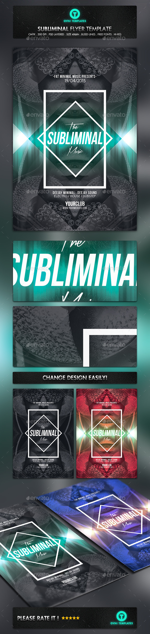 GraphicRiver Subliminal Minimal Flyer Template 11174430