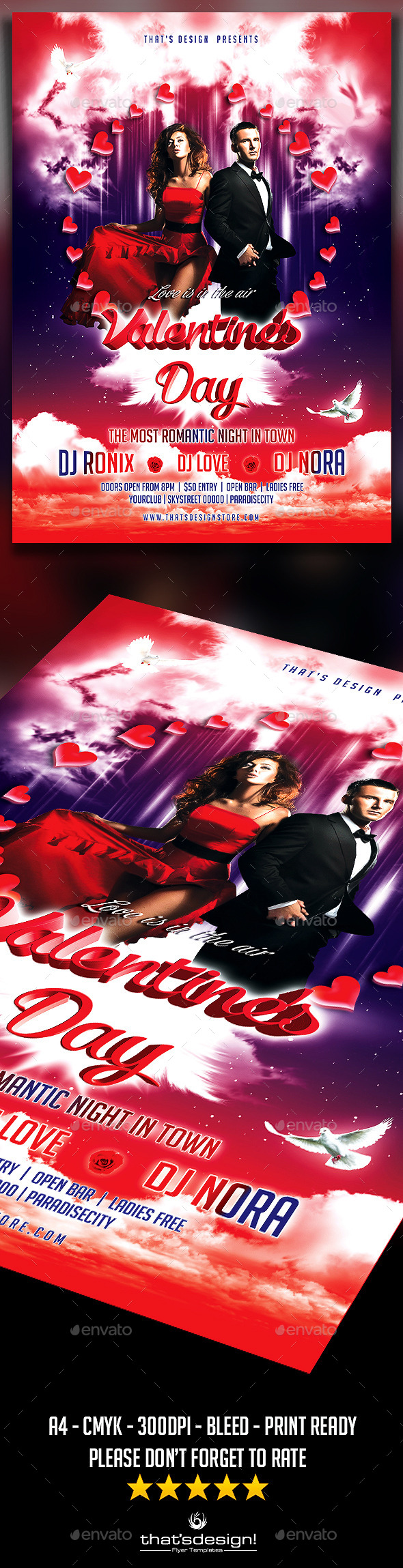Valentine's Day Flyer Template - Print Templates