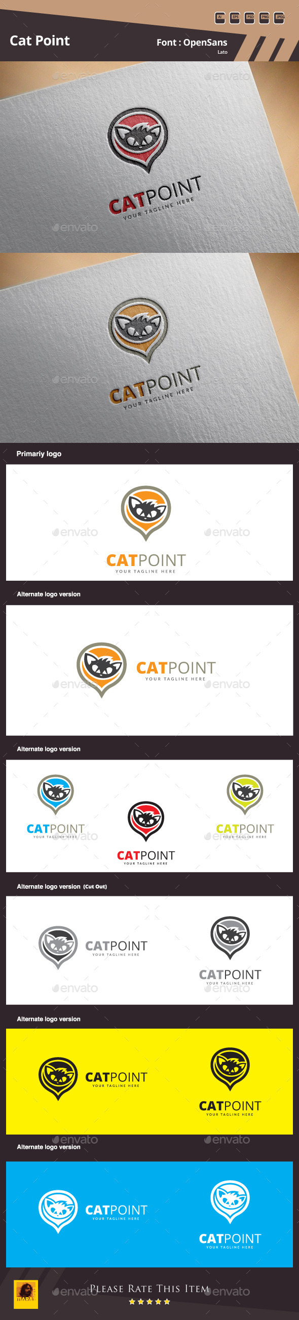 GraphicRiver Cat Point Logo Template 11174539