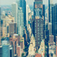 Skyscrapers. Midtown Manhattan helicopter blurred view - PhotoDune Item for Sale