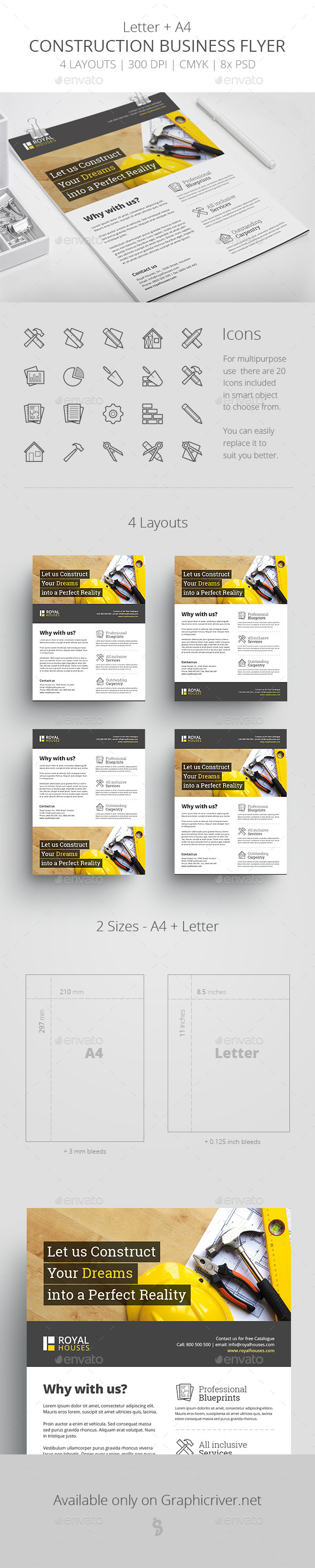 GraphicRiver Construction Business Flyer Letter & A4 11111307