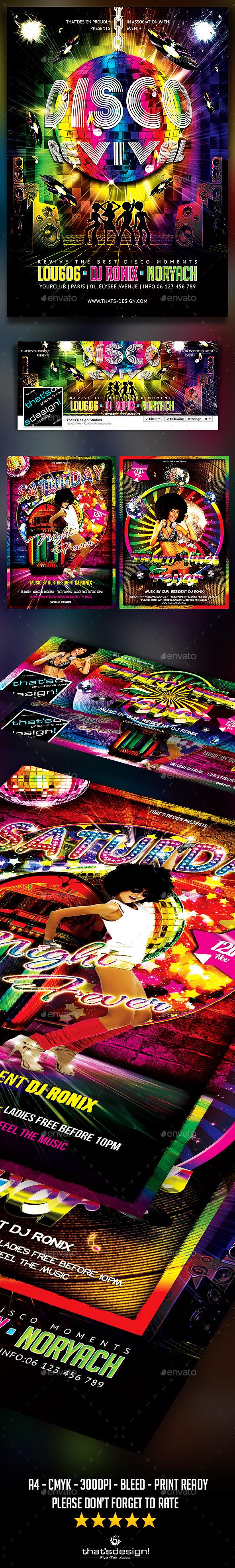 Disco Flyer Bundle - Clubs & Parties Events