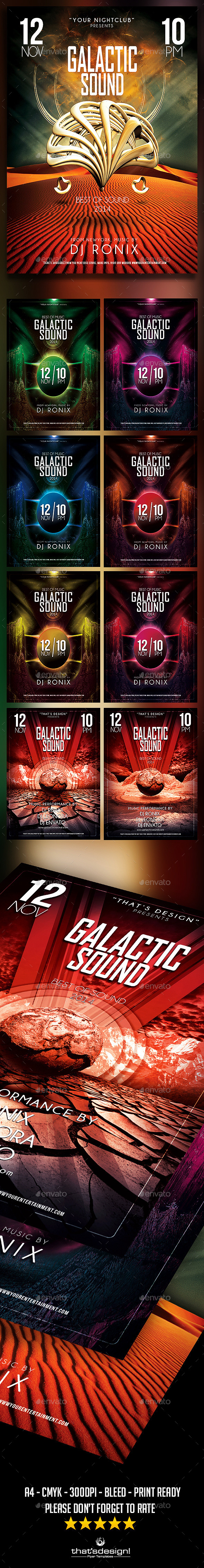 Galactic Sound Flyer Bundle - Clubs & Parties Events