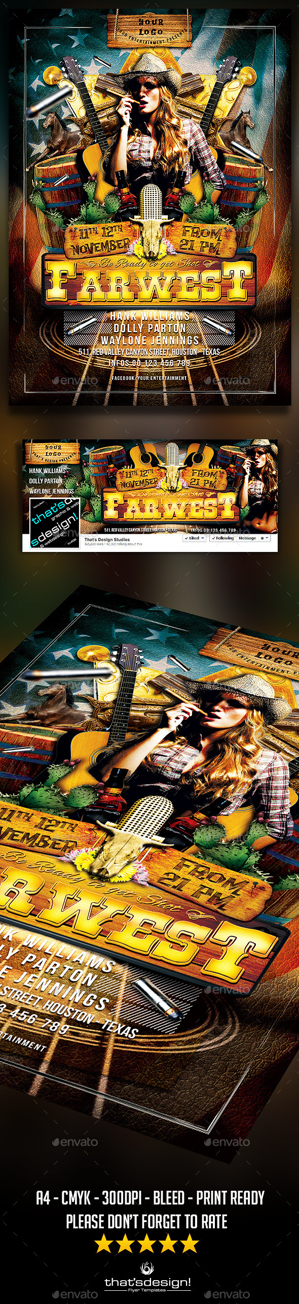 Country Live Flyer Template V1 - Events Flyers