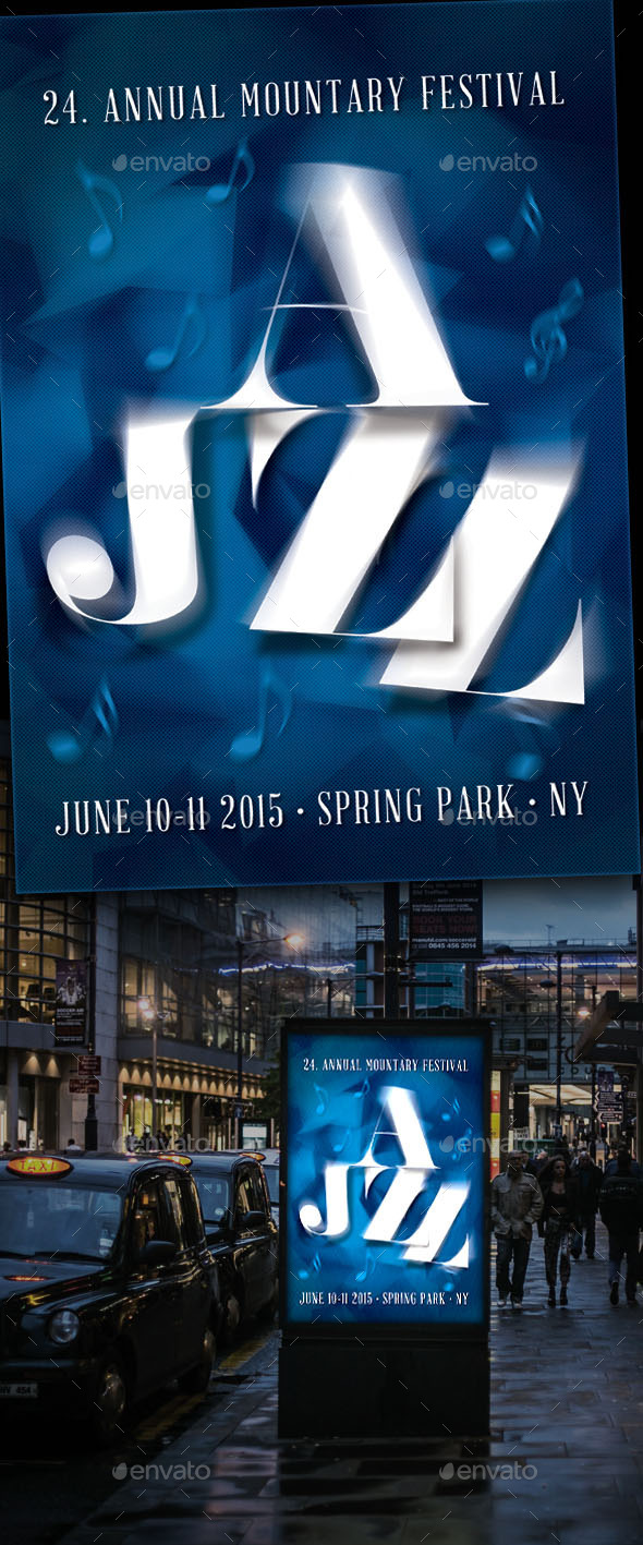 GraphicRiver Jazz Festival Flyer 11175482
