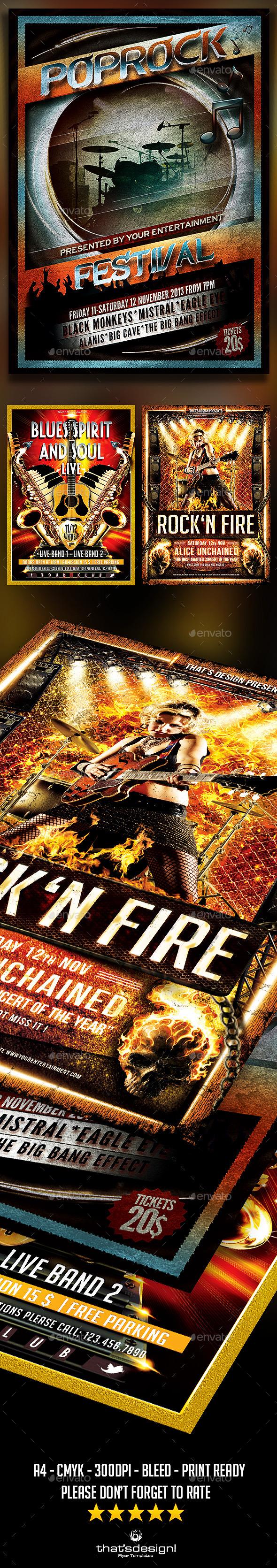 Concert  Live Flyer Bundle - Concerts Events