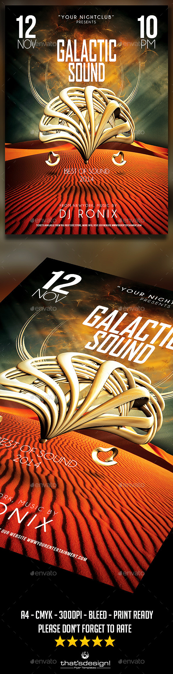 Galactic Sound Flyer V1 - Clubs & Parties Events