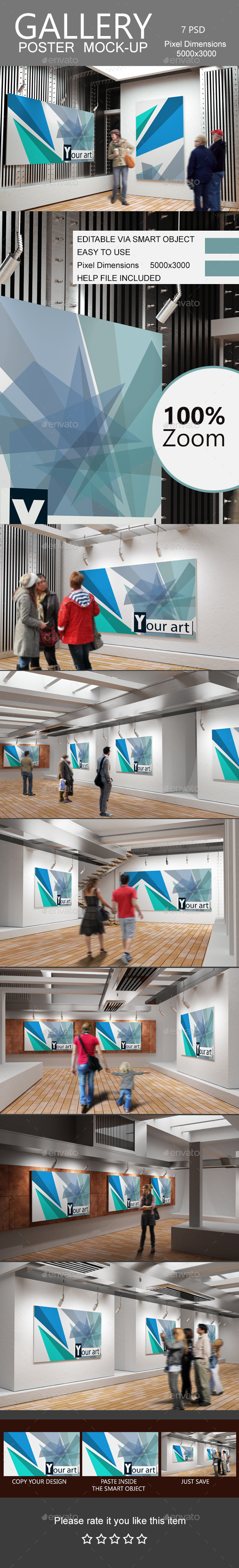 GraphicRiver Gallery Poster Mock-Up 2 11175638