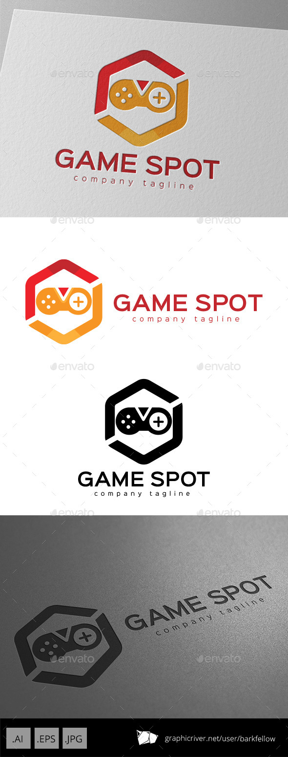 GraphicRiver Game Spot Logo Design 11175643