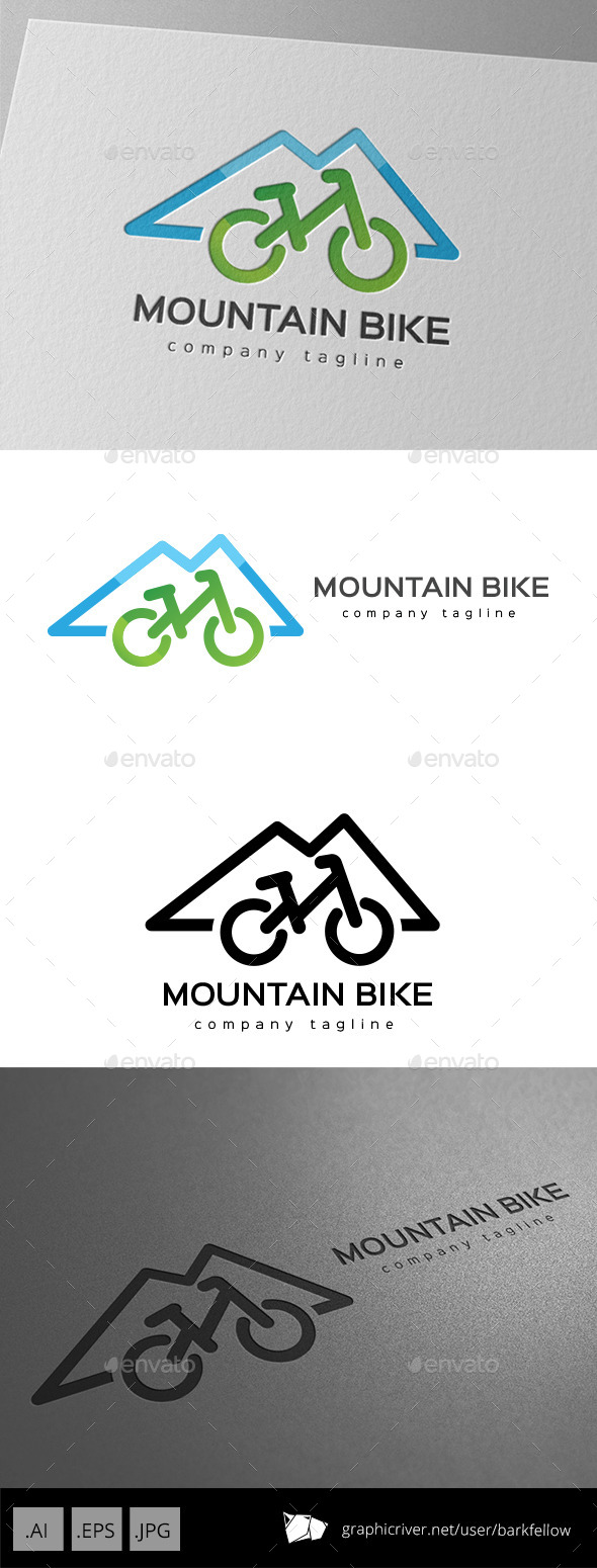 GraphicRiver Mountain Bike Logo Design 11175699