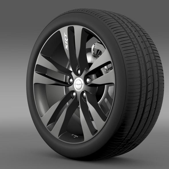 3DOcean Chrysler 300 SRT8 Satin Vapor wheel 11175714