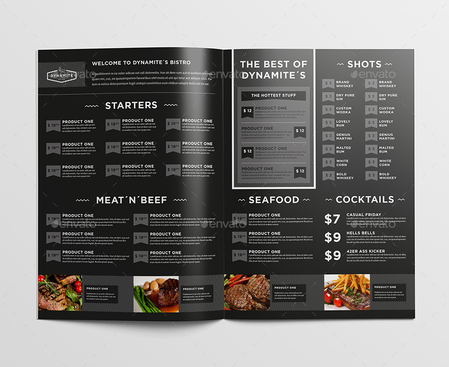 Restaurant menu by egotype graphicriver for Table menu restaurant