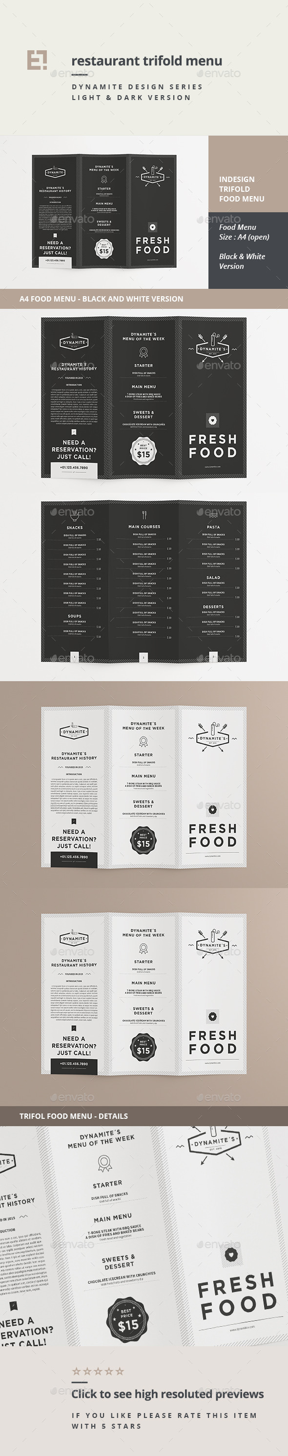 GraphicRiver Restaurant Trifold Menu 11175731