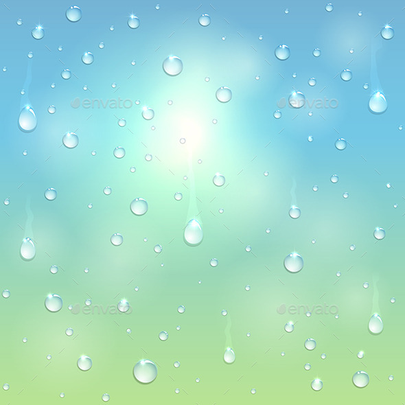 GraphicRiver Water Drops on Window 11175759