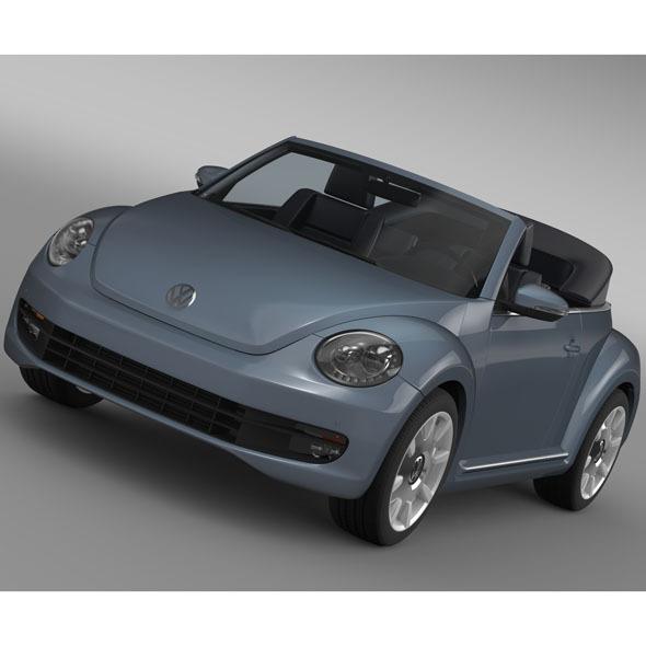3DOcean VW Beetle Cabriolet Denim Concept 2015 11175800