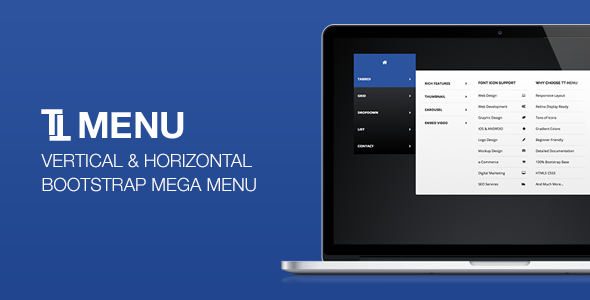 TT Menu – Vertical Horizontal Bootstrap Mega Menu (Navigation) Download