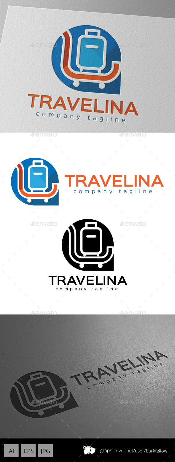 GraphicRiver Travelina Tour Travel Agent Logo 11176197