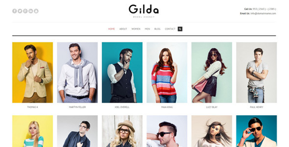 Gilda - Fashion Model Agency WordPress CMS Theme - Business Corporate