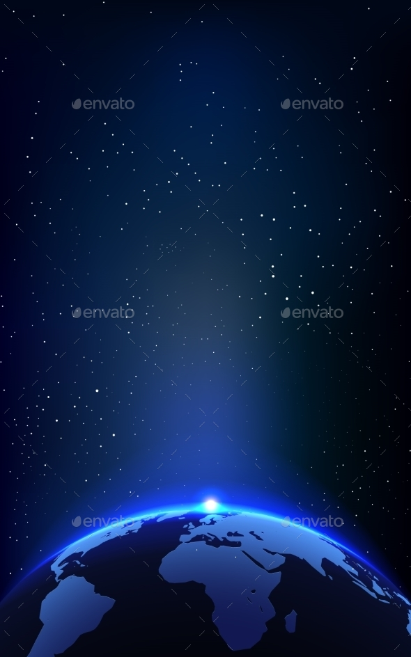 GraphicRiver Earth Planet and Space Background 11176662