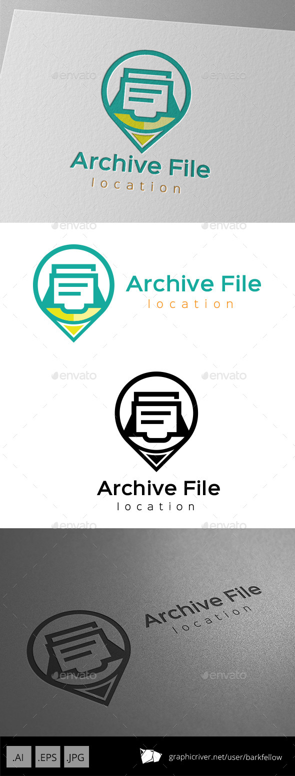 GraphicRiver Archive File Folder Logo 11176872