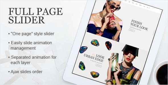 FullPage Slider - Prestashop Module