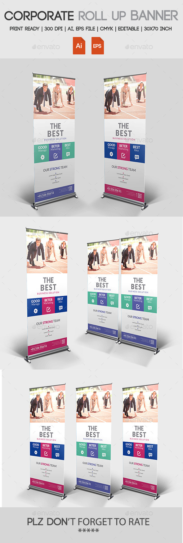 GraphicRiver Corporate Roll up Banner 11176879