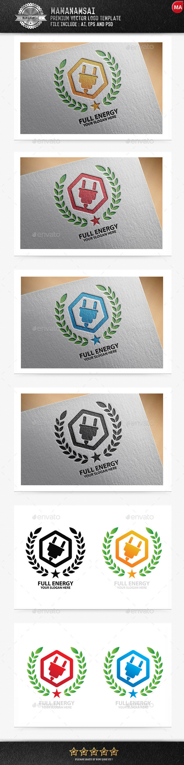 GraphicRiver Full Energy Logo 11176984
