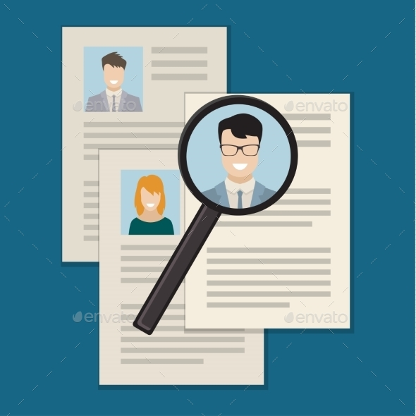 GraphicRiver Concept of Searching Professional Staff 11177181