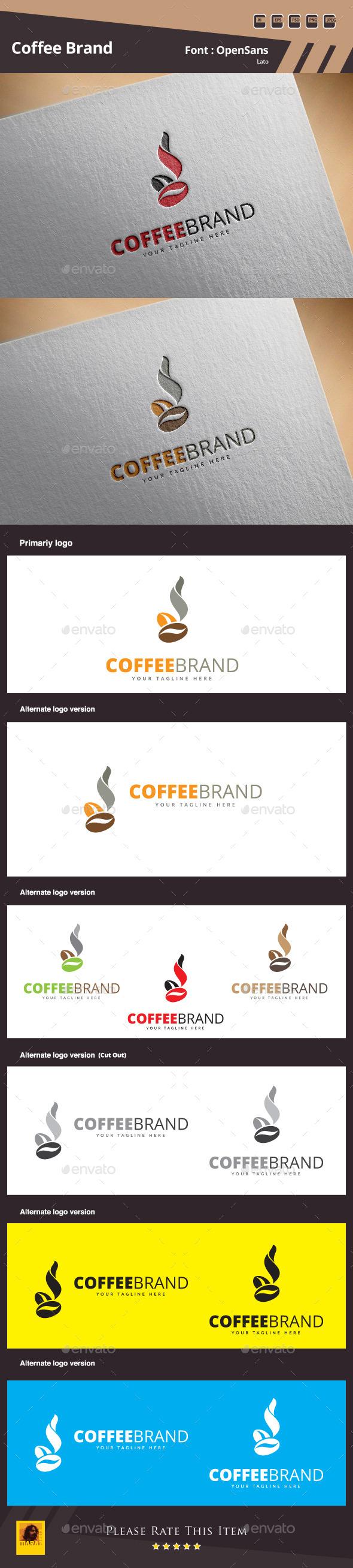 GraphicRiver Coffee Brand Logo Template 11177194