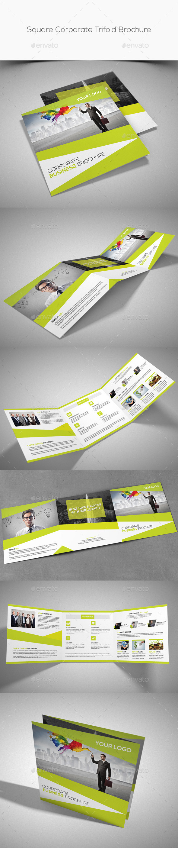 GraphicRiver Square Corporate Trifold Brochure 11177200