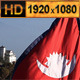 Flag of Nepal in Front of Himalaya Mountains - VideoHive Item for Sale