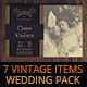 7 Vintage Items - Wedding Pack IV - GraphicRiver Item for Sale