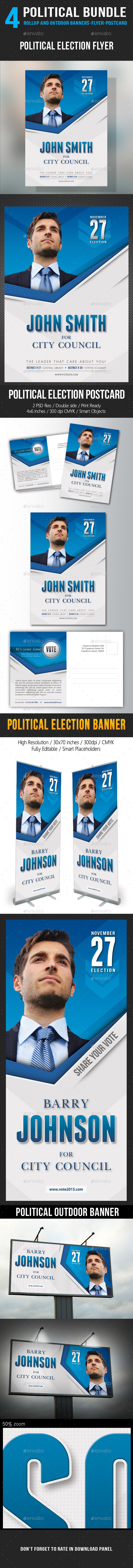 GraphicRiver 4 in 1 Political Banners Flyer Postcard Bundle V2 11177772