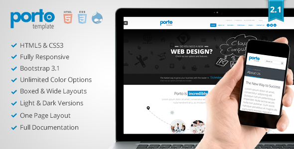 Porto - Responsive Drupal 7 Theme - Business Corporate