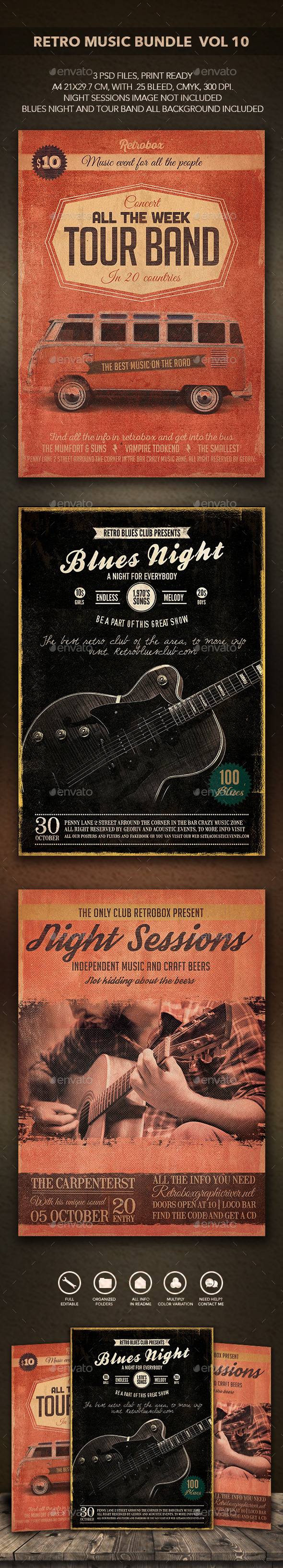 GraphicRiver Retro Music Bundle vol 10 11177874
