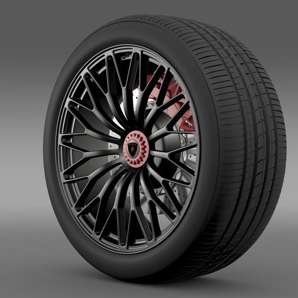 Lamborghini Aventador LP 750 4 SV wheel - 3DOcean Item for Sale