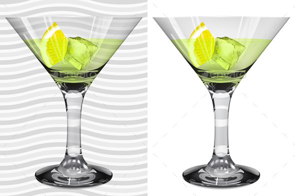 GraphicRiver Transparent and Opaque Glasses with Martini 11177988