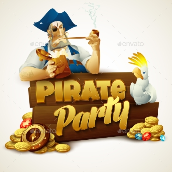 GraphicRiver Pirate Party Poster 11178295